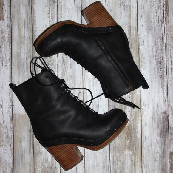 1b475884aa1 Acne Studios Black Leather Shank Platform Boots 37